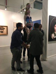 Ali Elmacı'nın heykeli fuar alanından kaldırıldı.