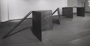 Castelli Galerisi, 1970, New York.
